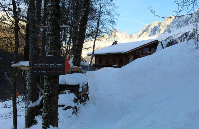 Skis aux pieds